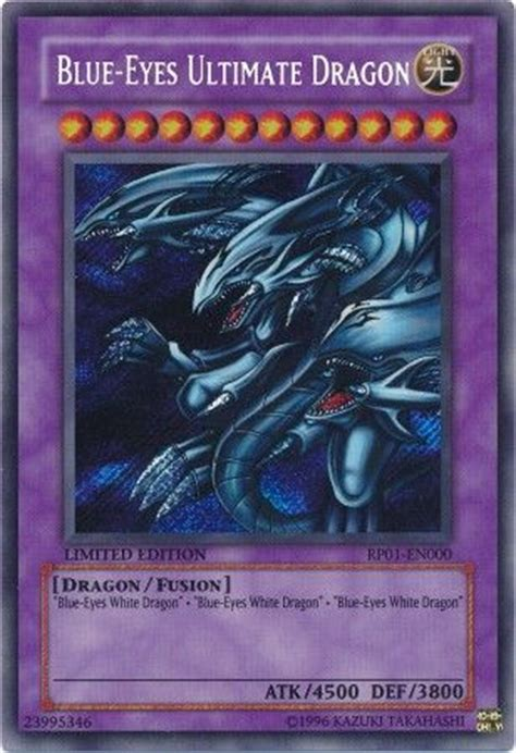 Blue Eyes Ultimate Dragon   RP01 EN000   Secret Rare
