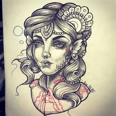 mermaid neo traditional tattoo design tattoos that i