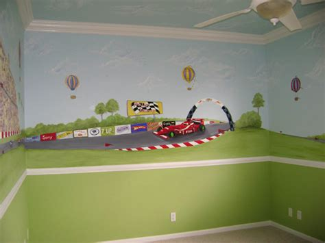 boys wall murals race car children s murals raceway grand prix mural children s murals in palm county