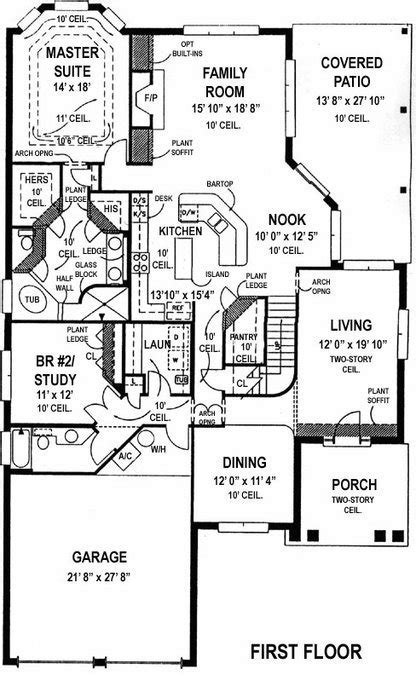 first floor house plans master bedroom on first floor beach house plan alp 099c