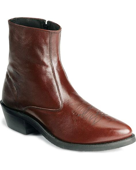 mens ankle boots zipper west s zipper western ankle boot mz7082 ebay