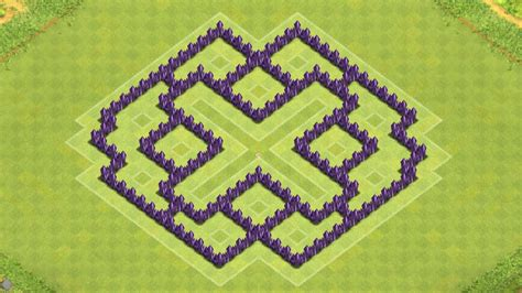 layout of coc th7 clash of clans town hall 7 defense coc th7 best farming