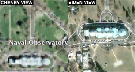 vice president house vice president s house now appears unobscured on google maps