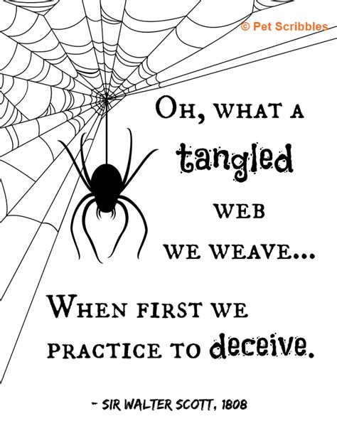 Manly Home Decor what a tangled web we weave halloween printable