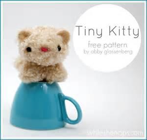 free plush pattern tiny kitty whileshenaps com