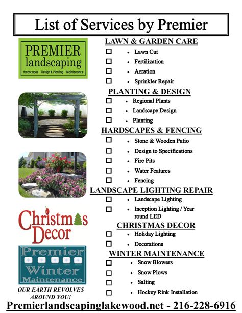 Landscaping Services List Outdoor Goods Landscaping Services List