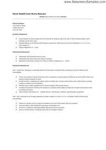 Sle Health Care Aide Resume by Home Health Care Resume Sle Home Health Care Resume