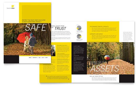 quark templates for brochures insurance agent brochure template design