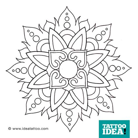 tattoo flash mandala ideatattoo