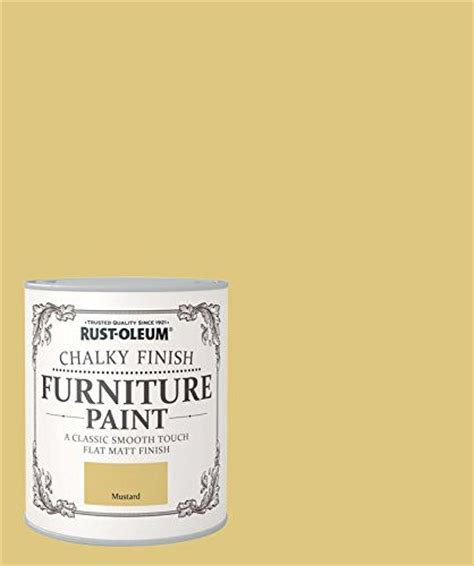 rust oleum chalky finish furniture paint mustard 750ml rustoleum http www co uk dp