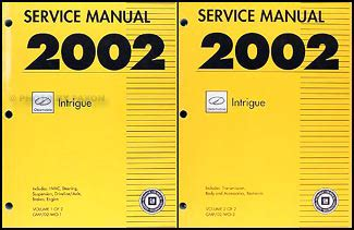 online car repair manuals free 2002 oldsmobile intrigue navigation system 2002 oldsmobile color upholstery dealer folder set original