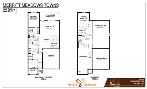 meadows type 2 floor plan type a merritt meadows towns home designs rinaldi homes