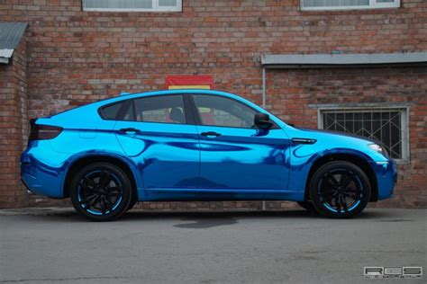 New Chrome Blue bmw x6 m in blue chrome