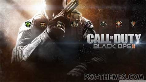 themes black ps3 ps3 themes 187 black ops 2 theme v1