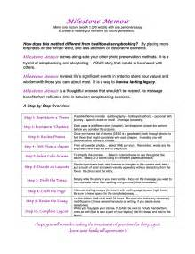 Exle Of A Memoir Essay by Milestone Memoir Handout And Exles Stepping Stones