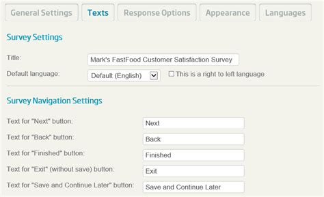 tutorial survey questions tutorial creating and deploying surveys entering a