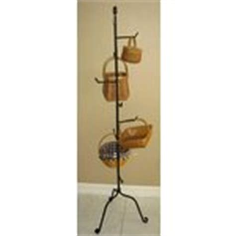 basket tree stand wrought iron basket tree stand for longaberger baskets 05