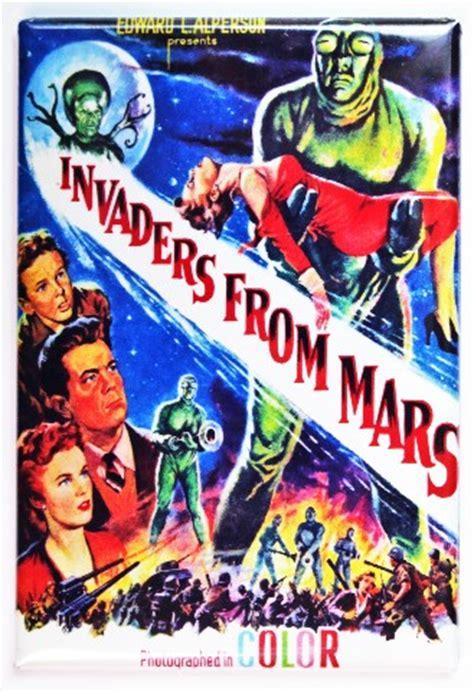 invaders  mars  poster fridge magnet sci fi