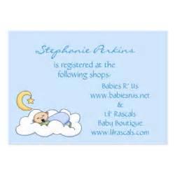 baby registry cards business card templates bizcardstudio