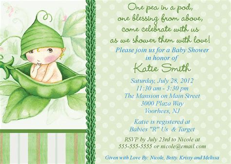 twin baby shower themes ideas pea in the pod baby