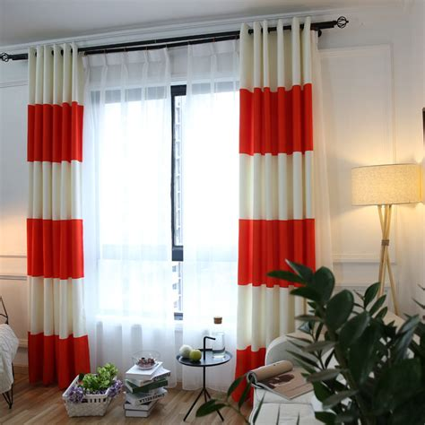 orange blackout curtains online get cheap orange white curtains aliexpress com