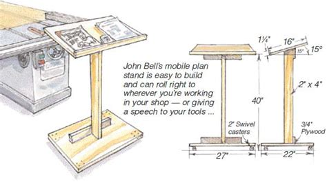 mobile plan stand woodworking blog  plans