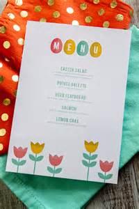sarah hearts printable easter menus