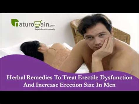 herbal remedies to treat erectile dysfunction and increase