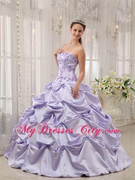 Mixco Dress lilac strapless appliques quinceanera dress for