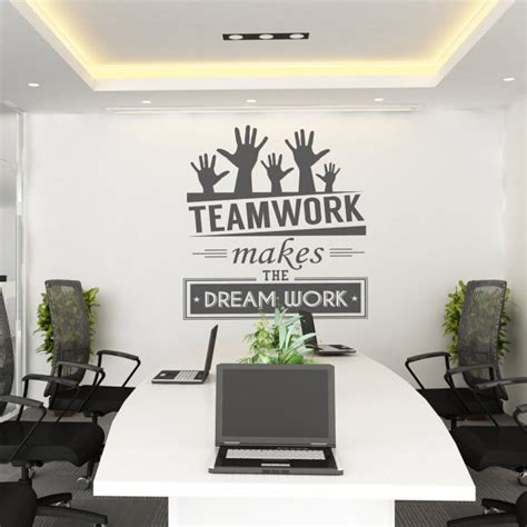 teamwork makes the work teamwork office wall
