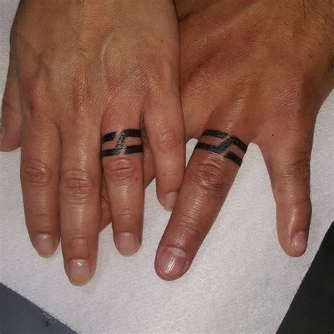 tattoo bands for men 78 wedding ring tattoos done to symbolize your