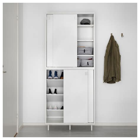 Shoe Cabinet With Doors Ikea Mackap 196 R Shoe Cabinet Storage 80x102 Cm Ikea