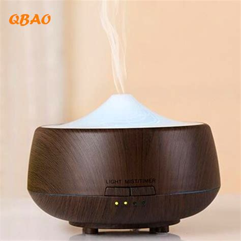 Ultrasonic Aroma Diffuser Vivi aroma diffuser led humidifier aromatherapy 250ml colorful wood grain essential diffuser