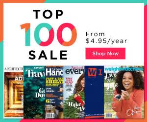 discountmags magazine subscriptions the best deals discount mags top 100 magazine subscription deals