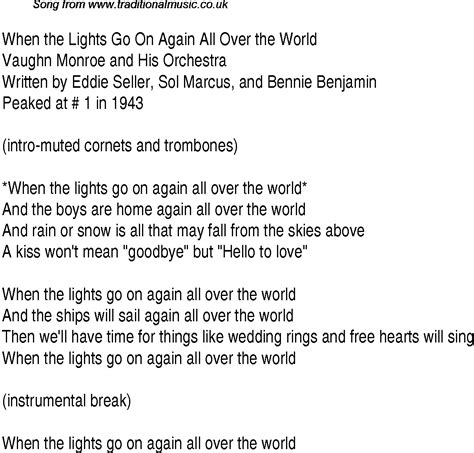Goes To The Again by All The World Song