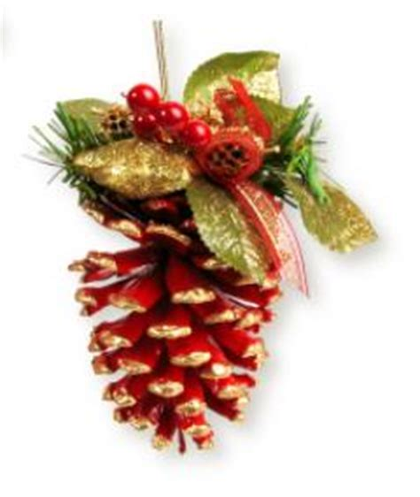 homemade pine cone tree ornament christmas crafts