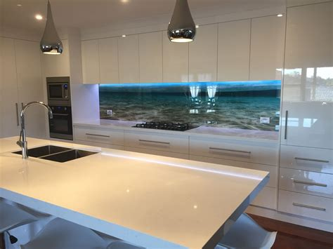 impression kitchen splashback      beach