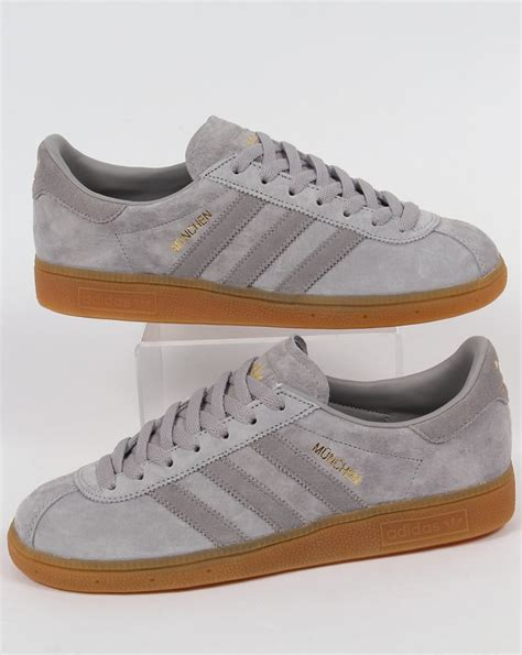 adidas munchen adidas munchen trainers light grey mid grey shoes