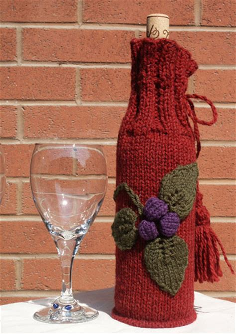 Knitting Pattern Wine Bottle Cover | knitted wine bottle cover patterns a knitting blog