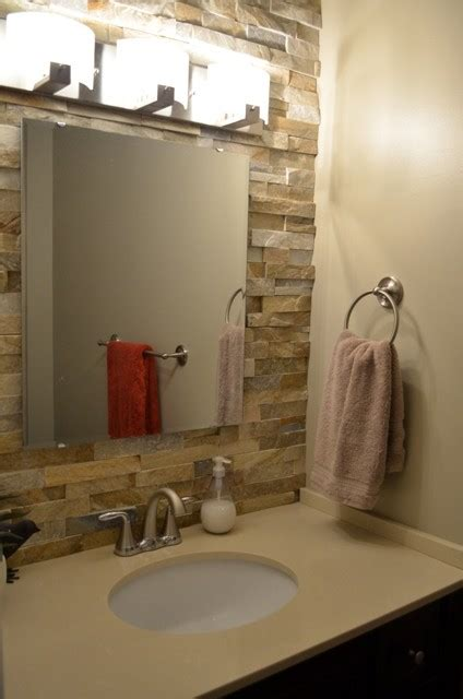 stone veneer bathroom stone veneer bathroom
