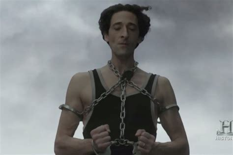 Harry Houdini Also Search For Adrien Brody Can T Escape As Harry Houdini In Miniseries Trailer