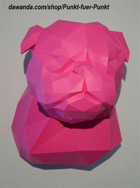 How To Make An Origami Pug - pug diy do it yourself papercraft papertrophy origami