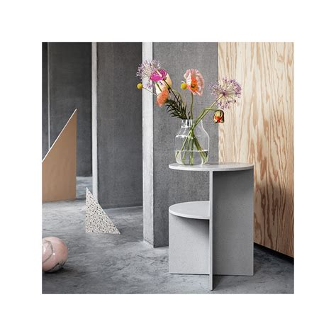 muuto side table muuto halves side table light grey design shop