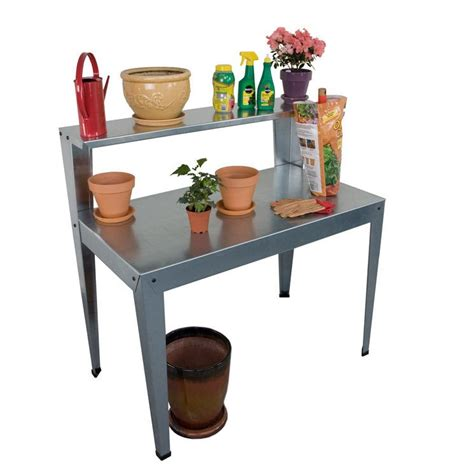 galvanized potting bench palram galvanized steel potting bench reviews wayfair
