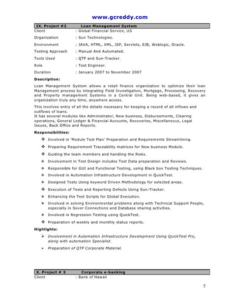 sle resume for 2 years experience in mainframe qtp 2 years experience resume resume ideas