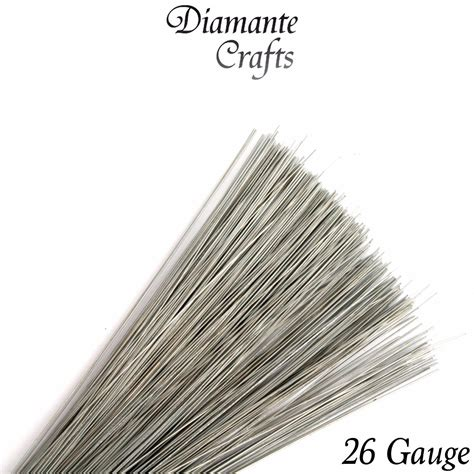 Anarchist Wire 26 Awg 200 stems silver stub wire florist galvanised 7