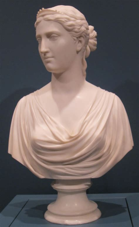 bust to bust file ginevra marble bust by hiram powers cincinnati