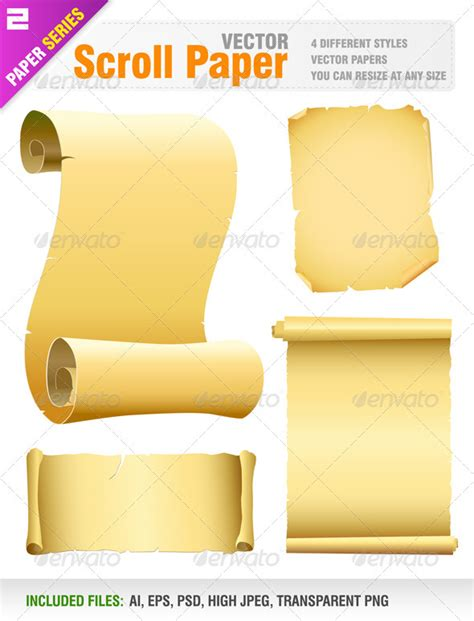 How To Make Scroll Paper - vector scroll paper graphicriver