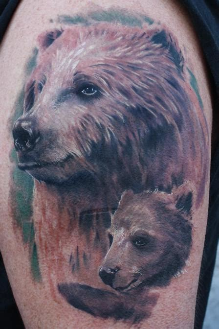 grizzly bear tattoos designs grizzly