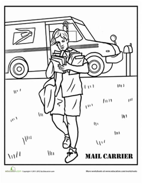 Mail Carrier Worksheet Education Com Free Coloring Books By Mail